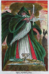 The Magician by Will Worthington (Draft for The DruidCraft Tarot)
