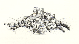 Lewes Castle and Tump by Will Worthington