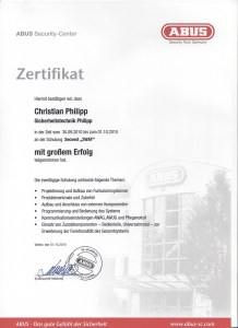 ABUS SECVEST 2WAY Zertifikate Philipp Sicherheitstechnik