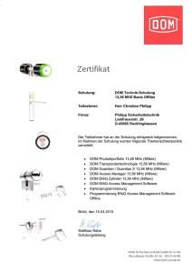 DOM ENIQ Zertifikat