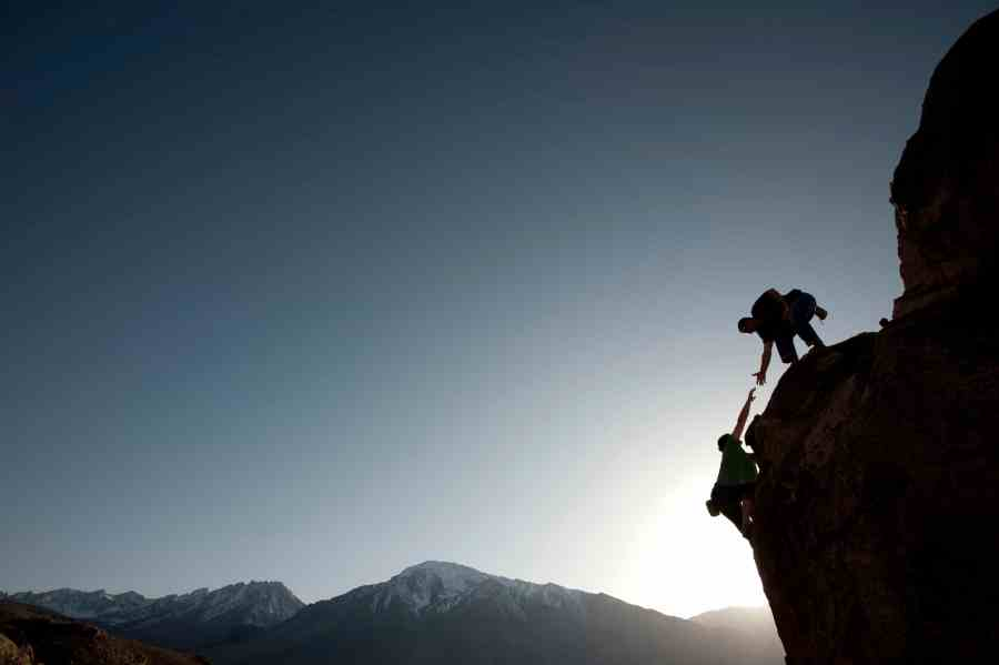 Climbing with a partner