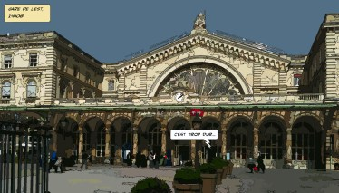 Gare de l'Est -- Medium 90x50 219€ // Large140x80 429€