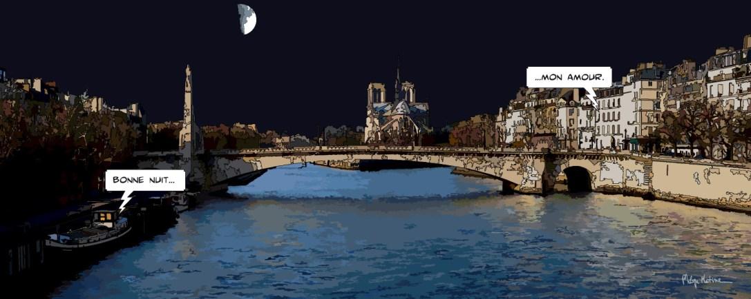 Bonne nuit... Mon amour -- Medium 100x40 épuisé // Large 150x60 épuisé // XLarge 180x70 449€