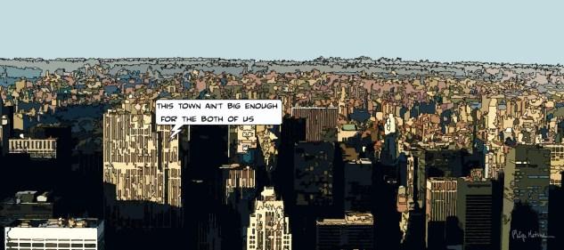 NY Skyline -- Medium 100x50 229€ // Large 160x80 479€