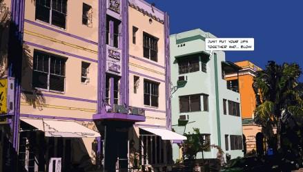 Miami // Colored street -- Medium 90x50 219€ // Large 140x80 429€