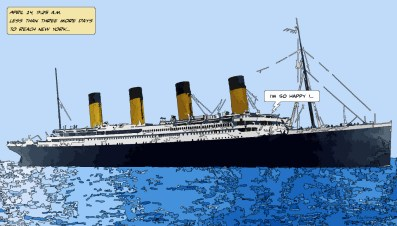 Titanic day -- Medium 90x50 219€ // Large 140x80 429€