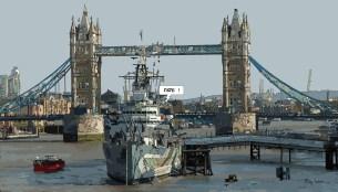 London // Tower Boat -- Medium 90x50 219€ // Large 140x80 429€