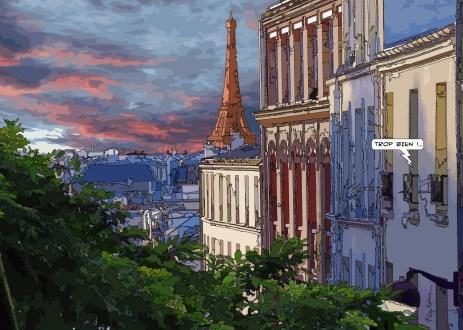 Belleville Tour Eiffel -- Medium 100x70 259€ // Large 140x100 429€