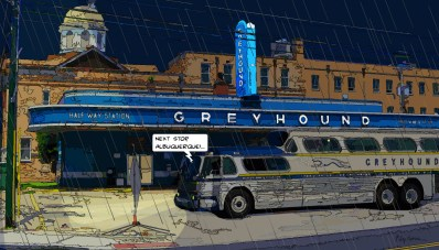 Greyhound Albuquerque -- Medium 90x50 219€ // Large 140x80 429€