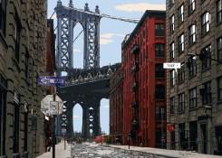 "Manhattan bridge ""Thank God It's Friday !"" -- Medium 100x70 259€ // Large 140x100 459€"