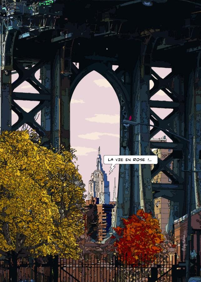 """Manhattan bridge """"la vie en rose"""" -- Medium 70x100 259€ // Large 100x140 429€"""