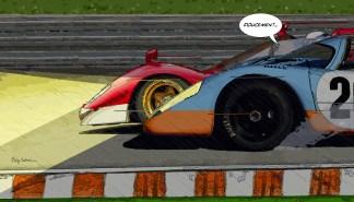 """Le Mans """"Doucement...""""— Medium 90×50 219€ // Large 140×80 429€"""