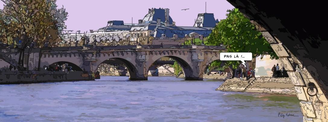 """pont neuf """"pas là"""" -- Medium 100x40 199€ // Large 160x60 399€"""