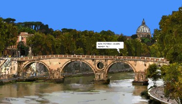 Ponte Sisto -- Medium 90x50 219€ // Large 140x80 429€