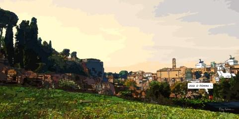 Rome skyline -- Medium 120x60 299€ // Large 160x80 479€