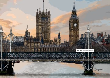 "Big Ben ""Ne quitte pas"" -- Medium 100x70 259€ // Large 140x100 429€"