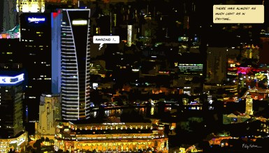 Singapore night Amazing -- Medium 90x50 219€ // Large 140x80 429€