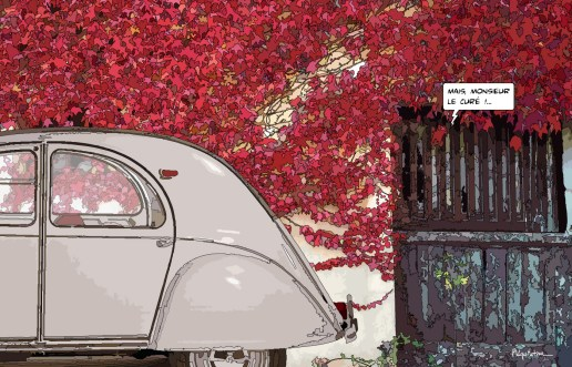 2CV M le curé -- Medium 90x60 229€ // Large 140x90 429€