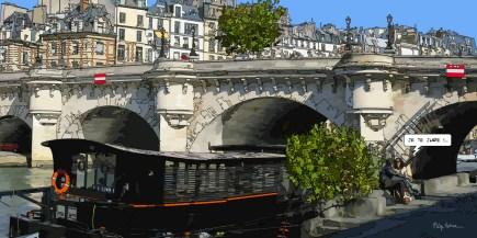 Petit Pont Neuf je te jure -- Medium 100x50 229€ // Large 160x80 479€ // XLarge 180x90 479€