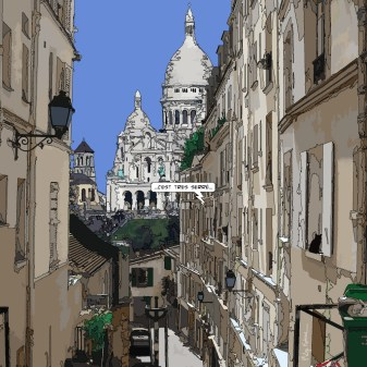 Rue de Montmartre -- Medium 80x80 239€ // Large 100x100 299€