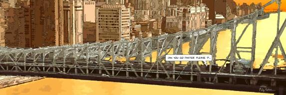 Washington bridge go faster -- Medium 100x40 199€ // Large 180x60 429€