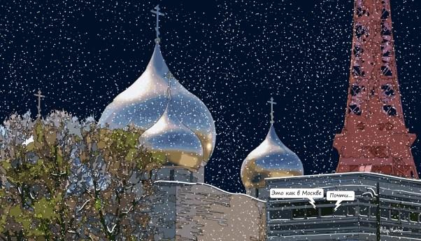 Russian church -- Medium 90x50 219€ // Large 140x80 429€