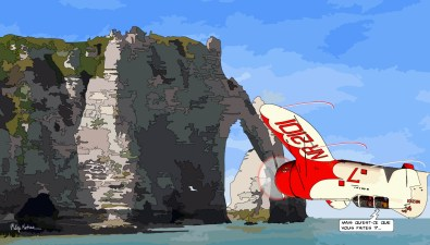 Plane Etretat -- Medium 90x50 219€ // Large 140x80 429€
