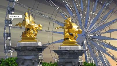 Roue Chevaux -- Medium 90x50 219€ // Large 140x80 429€