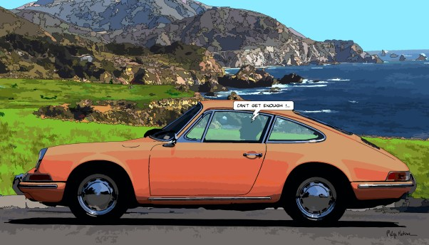 "Porsche 911 ""Can't get enough""-- Medium 90x50 219€ // Large 140x80 429€"