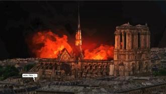 "Notre Dame fire // ""Mon Dieu !"" -- Medium 100x70 259€ // Large 140x100 429€"