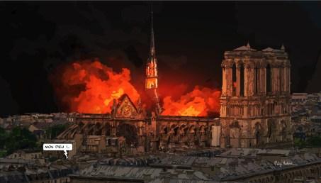 "Notre Dame fire // ""Mon Dieu !"" -- Medium 100x70 259€ // Large 140x100 459€"