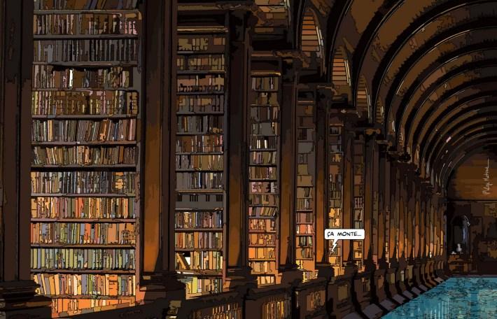 """Library // """"ça monte"""" -- Medium 100x70 259€ // Large 140x90 449€"""