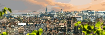Lyon // Panorama sud -- Medium 120x40 259€ // Large 180x60 429€ // XLarge 210x70 539€