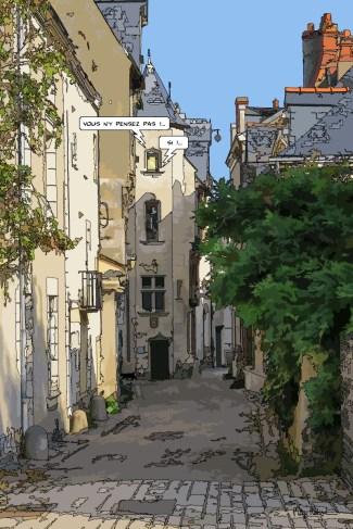 Angers // ruelle médiévale -- Medium 60x90 229€ // Large 80x120 359€