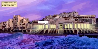 Biarritz // Casino sunset -- Medium 100x50 229€ // Large 160x80 459€