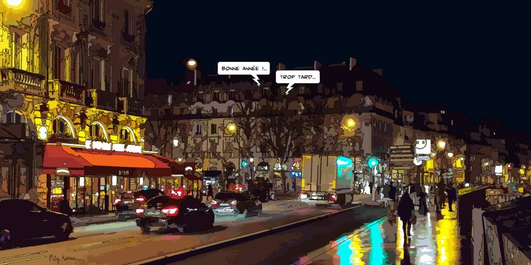 Paris // Quai St Michel -- Medium 100x50 229€ // Large 160x80 479€