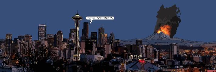 Seattle / Mt Rainier -- Medium 120x40 259€ // Large 180x60 429€ // XLarge 210x70 539€