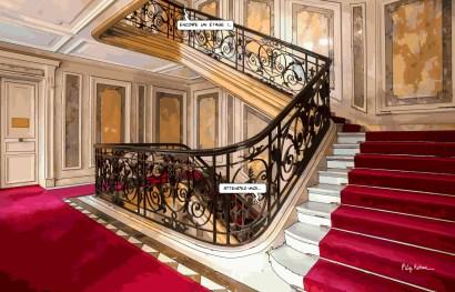Paris // escalier rouge -- Medium 90x60 229€ // Large 140x90 449€