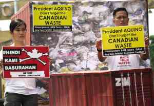 EcoWaste protest - Canadian garbage2
