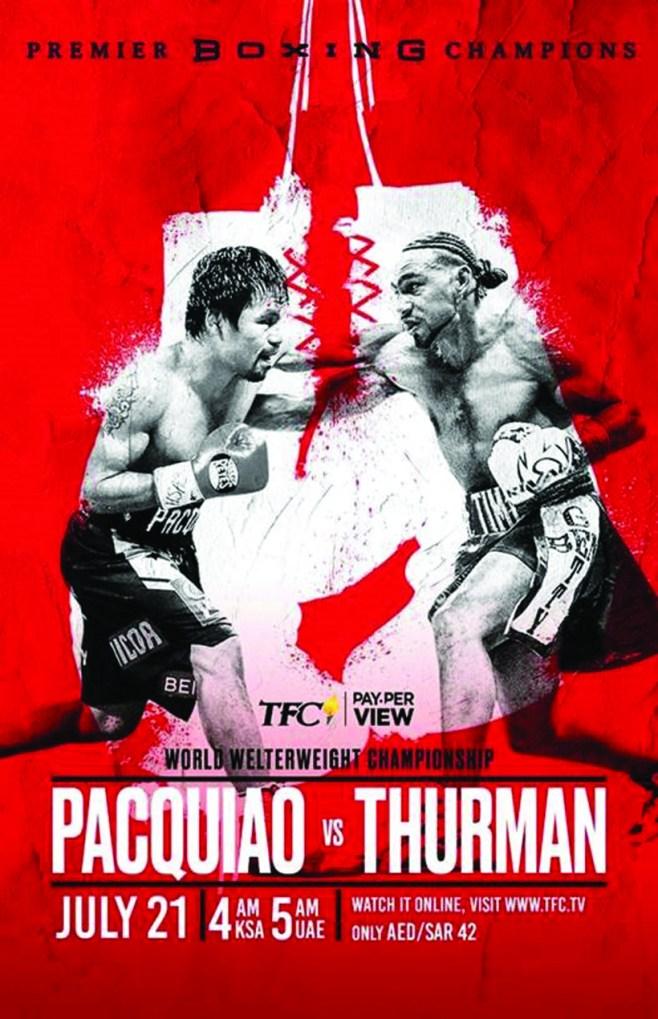 Pacquiao vs Thurman - Full Poster
