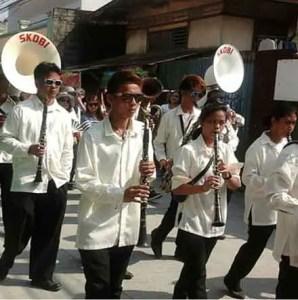 Obando band in procession