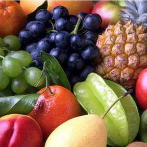 Tropical fruits on display