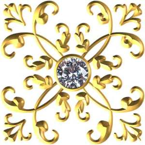 Gold jewelry with diamond