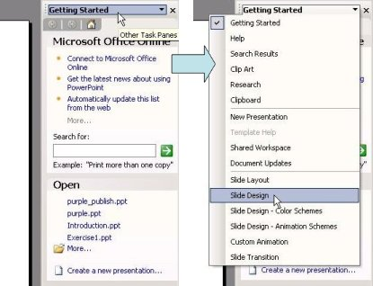 Microsoft PowerPoint sidebar design
