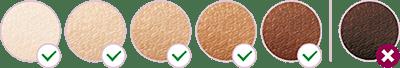 ألوان البشرة في جهاز فيليبس لوميا الاصدار العاشر