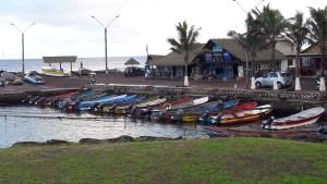 Le petit port de Hanga Roa