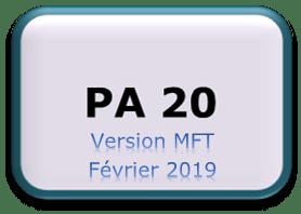 PA20 - Version MFT Février 2019