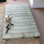 Two 600mm decking squares