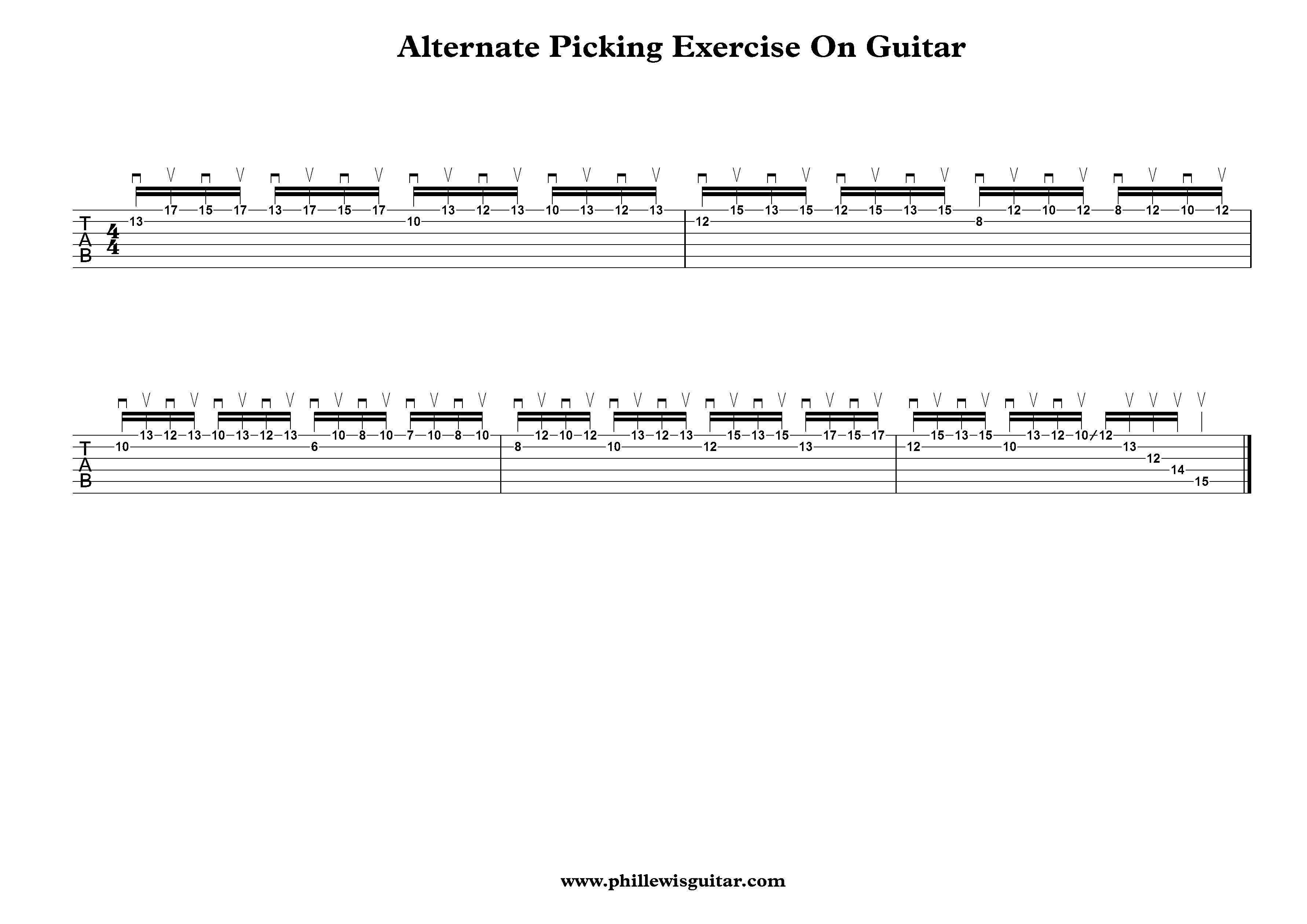 Alternate Picking Exercise