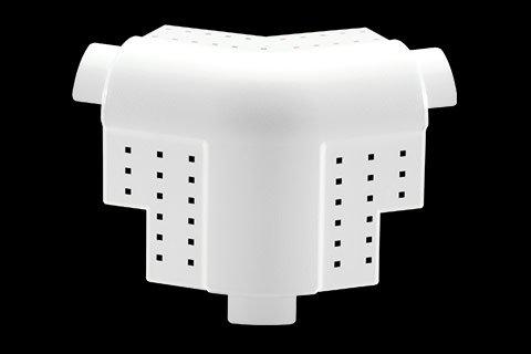 "gripstik vinyl drywall corner transition cap - 3/4"" bullnose rounded finish 3-way splay corner cap"